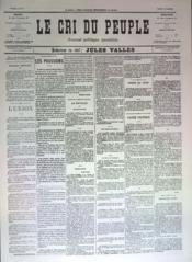 Cri Du Peuple (Le) N°79 du 19/05/1871 - Couverture - Format classique