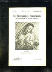 La Renaissance Provinciale N° 101 Fevrier Mars Avril 1953. Madonna Photographie Par Manuel Ampudia. - Couverture - Format classique