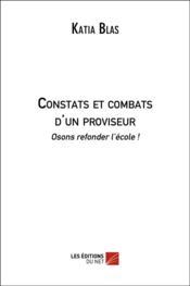 Constats et combats d'un proviseur - Couverture - Format classique