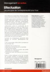 Effectuation ; les principes de l'entrepreunariat pour tous - 4ème de couverture - Format classique
