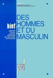 Des hommes et du masculin - Couverture - Format classique
