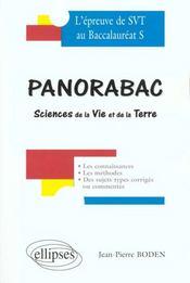 Panorabac Sciences De La Vie Et De La Terre L'Epreuve De Svt Au Baccalaureat S - Intérieur - Format classique