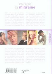 Vaincre la migraine - 4ème de couverture - Format classique