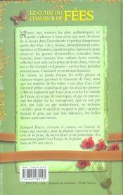 Le Guide Du Chasseur De Fees - 4ème de couverture - Format classique
