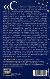 L'Ame Du Monde. Disponibilite D'Aristote - 4ème de couverture - Format classique