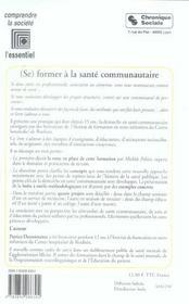 (Se) Former A La Sante Communautaire - 4ème de couverture - Format classique