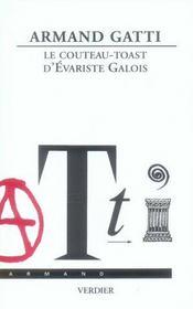 Le couteau-toast d'Evariste Gallois - Intérieur - Format classique