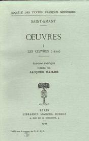 Oeuvres - Tome I: Les Oeuvres (1629) - Couverture - Format classique