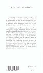 Alphabet Des Femmes (L') - 4ème de couverture - Format classique