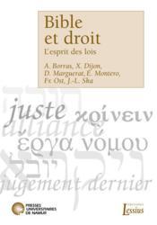 Bible et droit ; l'esprit des lois - Couverture - Format classique