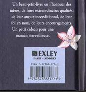 Un petit livre pour ma maman - 4ème de couverture - Format classique