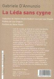 La léda sans cygne - 4ème de couverture - Format classique
