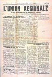 Union Regionale (L') N°1131 du 02/05/1940 - Couverture - Format classique