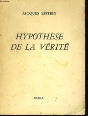 Hypothese De La Verite - Couverture - Format classique