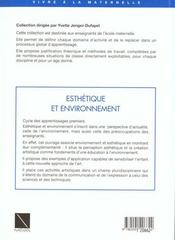 Esthetique Et Environnement - 4ème de couverture - Format classique