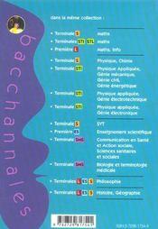 Bacchannales Sms ; Communication En Santé Et Action Sociale Et Sciences Sanitaires Et Sociales ; Sujets Du Bac Corrigés Et Commentés (Bac 2004) - 4ème de couverture - Format classique