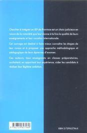 Integrer Les Iep De Province Nouvelles Epreuves Methodologie Et Sujets Corriges 2e Edition Maj - 4ème de couverture - Format classique