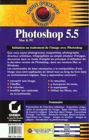 Photoshop 5 et 5.5 mode d'emploi - 4ème de couverture - Format classique