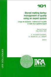 Stored malting barley : management of quality using an expert system. l'orge de brasserie : maitrise - Intérieur - Format classique