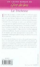 Oeuvre t.4 ; la tricheuse - 4ème de couverture - Format classique