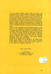 Ange Banni (L') - 4ème de couverture - Format classique