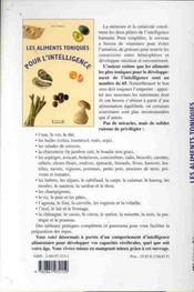 Les Aliments Toniques Pour L'Intelligence - 4ème de couverture - Format classique