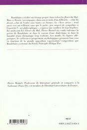 Les fleurs du mal de Charles Baudelaire - 4ème de couverture - Format classique
