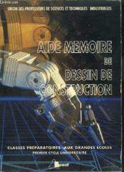 Aide memoire dessin construction - Couverture - Format classique