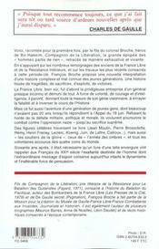 L'epopee de la france libre 1940-1946 - 4ème de couverture - Format classique