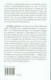 Harry Dickson t.1 ; cric-croc, le mort en habit - 4ème de couverture - Format classique