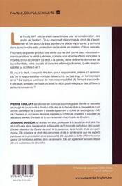 Place De La Parole De L'Enfant Entre Verites Et Responsabilites - 4ème de couverture - Format classique