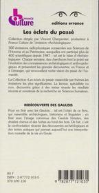 Redécouverte des Gaulois - 4ème de couverture - Format classique