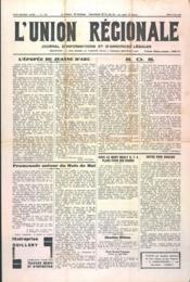 Union Regionale (L') N°1132 du 09/05/1940 - Couverture - Format classique