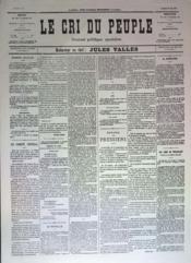 Cri Du Peuple (Le) N°81 du 21/05/1871 - Couverture - Format classique