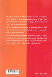 Intégrer Sciences Po Paris - 4ème de couverture - Format classique