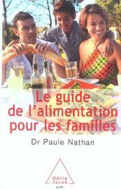 Le guide de l'alimentation pour les familles - Intérieur - Format classique