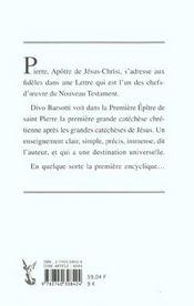 Premiere Epitre De Saint Pierre - 4ème de couverture - Format classique