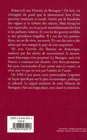 Histoire de Bretagne - 4ème de couverture - Format classique