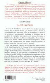 Saint Exupery - 4ème de couverture - Format classique