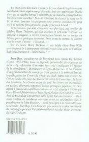 Harry Dickson t.2 ; le lit du diable - 4ème de couverture - Format classique