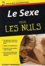 Le sexe - Couverture - Format classique