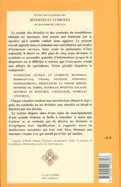 Petite Encyclopedie Des Divinites Et Symboles Du Bouddhisme Tibetain - 4ème de couverture - Format classique
