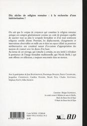 Dix siècle de religion romaine ; à la recherche d une intériorisation ? hommage à Nicole Boëls - 4ème de couverture - Format classique