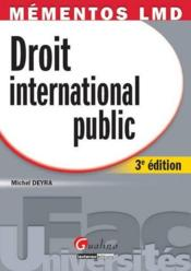 Droit international public (3e édition) - Couverture - Format classique