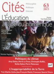 Revue Cites T.63 ; Apprendre Et Transmettre A L'Age Du Numérique - Couverture - Format classique