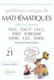 Vente livre :  Problemes Corriges De Mathematiques Hec Tome 21 1998-2001 Option Scientifique  - Leboeuf