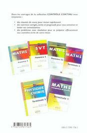 Svt Enseignement Obligatoire Terminale S Resumes De Cours Exercices Et Controles Corriges - 4ème de couverture - Format classique