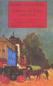 Lettres De Paris 1902-1910 - Intérieur - Format classique