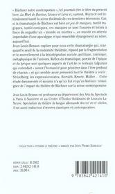 Theatre De Georg Buchner (Le) - 4ème de couverture - Format classique