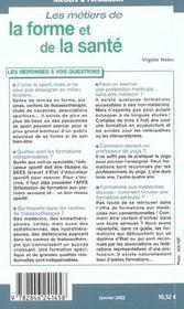 Les Metiers De La Forme Et De La Sante - 4ème de couverture - Format classique